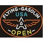 ネオンサイン【FLYING GASOLIN OPEN】フライング ガソリン オープン