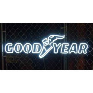 ディスプレイに最適!GOOD YEARのネオンサイン★NEON SIGN (GOOD YEAR)/Lサイズ