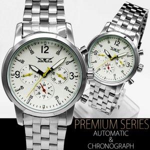 ゴールドMIX・ミディアムフェイス腕時計【保証書付】シルバー&ホワイト - 拡大画像