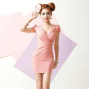カシュクールピンクドレスSサイズ