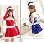 2color サンタ衣装 クリスマス/コスプレ 赤