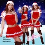 ボレロ付バニエ内臓のクリスマス衣装・サンタさん