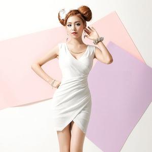 カシュクール タイトミニドレス ホワイト Mサイズ