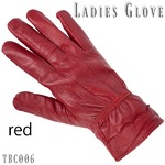 革手袋高級ラム革使用レディース革手袋レディースレッドMサイズ