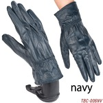 革手袋高級ラム革使用レディース革手袋レディース/ネイビーLサイズ