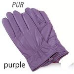 革手袋高級ラム革使用レディース革手袋レディース/パープルLサイズ