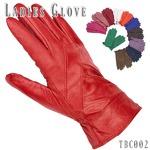 革手袋高級ラム革使用レディース革手袋 婦人/ネイビーLサイズ