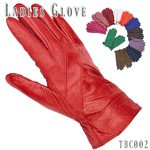 革手袋高級ラム革使用レディース革手袋 婦人/パープルLサイズ