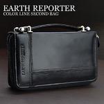 ミニセカンドバッグ【EARTH REPORTER】アースリポーター/ブラックライン
