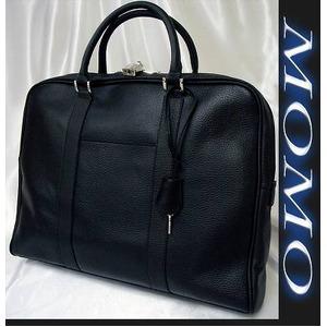 ビジネスバッグ牛床革製ビジネスバッグ■ブラック - 拡大画像