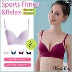 スポーツブラ ノンワイヤー/ピンクSサイズ