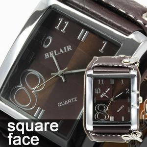 メンズ腕時計 【スクエアフェイス】WC1/ブラック - 拡大画像