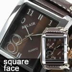 メンズ腕時計 【スクエアフェイス】WC1/ブラック