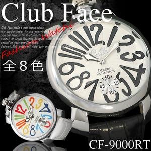 メンズ腕時計ビッグフェイスマットタイプ ベルト ウォッチ/ブルーマルチ