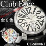 メンズ腕時計ビッグフェイスマットタイプ ベルト ウォッチ/レッドホワイト