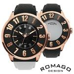 メンズ腕時計正規【ROMAGO ロマゴ】ミラー文字盤腕時計