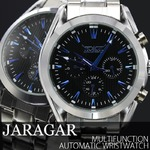 メンズ腕時計 【JARAGAR ジャラガー】マルチファンクション・自動巻き腕時計