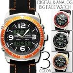 メンズ腕時計 正規【Angelo Jurietti アンジェロジュリエッティ】アナログ&デジタル腕時計/ブラック