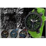 メンズ腕時計 ビッグフェイス トップリューズデザイン◇-clubface- ラバーバンド腕時計/ブラック