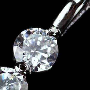 レディースネック人気のベネチアチェーン CZダイヤモンドペンダント 「トリロジー」
