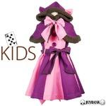 チェシャ猫風 スカートワンピース&ケープセット 100サイズ 子供サイズ アリス ハロウィン