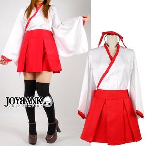 ミニスカ巫女コスチュームセット コスプレ衣装 装束 着物 制服 - 拡大画像