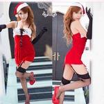 セクシー 赤 サンタ衣装 クリスマス コスプレ
