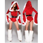 セクシー カッコイイ パンツ一体型 サンタ衣装 クリスマス コスプレ