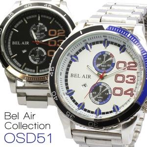 メンズ腕時計 重厚感のある ビッグフェイス メンズ 腕時計 OSD51/ゴールドブラック - 拡大画像