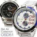 メンズ腕時計 重厚感のある ビッグフェイス メンズ 腕時計 OSD51/ゴールドブラック