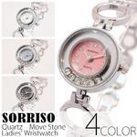 レディース腕時計【SORRISO ソリッソ】ムーブストーン・レディース腕時計[全4色]/ピンク