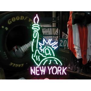 ネオンサイン 【NEW YORK】ニューヨーク 自由の女神(ネオン管 看板 アメリカン雑貨 ・NEON SIGN・ネオンサイン) - 拡大画像