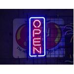 ネオンサイン 縦長オープン M (ネオン管 看板 アメリカン雑貨 ・NEON SIGN・ネオンサイン)