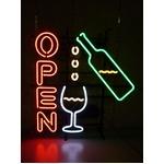 WINE OPEN (ネオン管 看板 アメリカン雑貨 ・NEON SIGN・ネオンサイン)