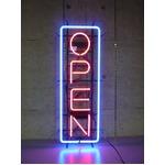 ネオンサイン 縦長オープン LL (ネオン管 看板 アメリカン雑貨 ・NEON SIGN・ネオンサイン)