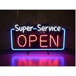 ネオンサイン Super Service OPEN(ネオン管 看板 アメリカン雑貨 ・NEON SIGN・ネオンサイン)