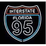 ネオンサイン INTERSTATE FLORIDA 95(ネオン管 看板 アメリカン雑貨 ・NEON SIGN・ネオンサイン)