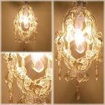 アンティーク風 【Glass Chandelier Cassiopeia】ヨーロッパ風★1灯ガラスシャンデリア カシオペア ホワイト