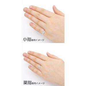 Silver925 シルバー ピンキーリング 蝶々 ガーネット 1月誕生石/1号