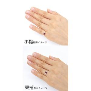 ガーネット  Silver925 シルバー ピンキーリング  1月誕生石/5号