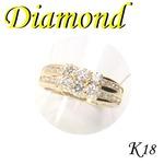 K18 イエローゴールド リング ダイヤモンド 4月誕生石/11号
