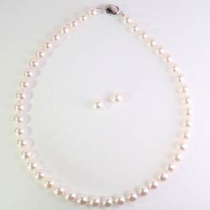 花珠ネックレス アコヤ 真珠 9.5mm-10.0mm  6月誕生石