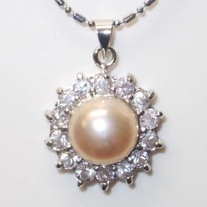 大粒(10mmアップ)淡水真珠(淡水パール)ペンダント   6月誕生石/ホワイト