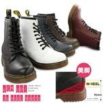 ブーツ メンズ インヒール内蔵レースアップブーツ/ネイビー23.5cm