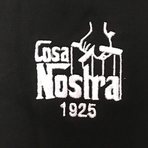 COSA NOSTRA  VネックTシャツ/ブラックLサイズ