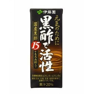 紙パック 伊藤園 黒酢で活性 200ml  48本セット - 拡大画像