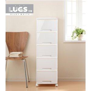 LUGS ルームチェスト5段 シルキーホワイト - 拡大画像