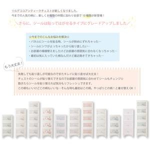 Liloudecoco ドレスチェンジチェスト 4段 ストライプミント DPC-04-STMI 衣類収納 猫脚 リルデココ 姫系 日本製 姫家具 おしゃれ 収納