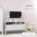 Liloudecoco テーブル リルデココ パール テレビ台 猫足 収納 姫系 フラワーモチーフ