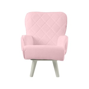 Liloudecoco リルデココ 回転ローチェアー(ポケット付)ピンク 姫系 キルティング 椅子 一人掛け ソファー 高座椅子